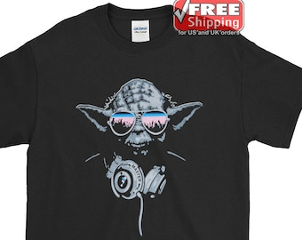 b9af8c93 Yoda DJ shirt for Star Wars Fans Who also works as DJ