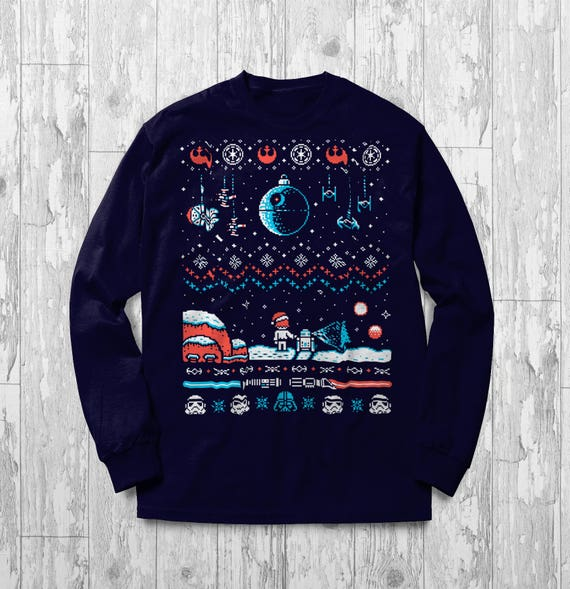 Star Wars Sweater Ugly Christmas R2D2 Gift Idea For Death Star | Etsy
