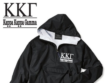 Kappa Kappa Gamma // Kappa // Sorority Charles River Rain Jacket // Choose Embroidery Color // Recruitment // Birthday // Christmas
