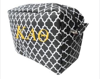 40152531ad Kappa Alpha Theta    Theta    Sorority Zippered Cosmetic Bag    Greek Make  Up Bag    Choose Your color