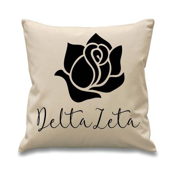 Delta Zeta Dz Sorority Canvas Pillow 17x17 Symbol Etsy