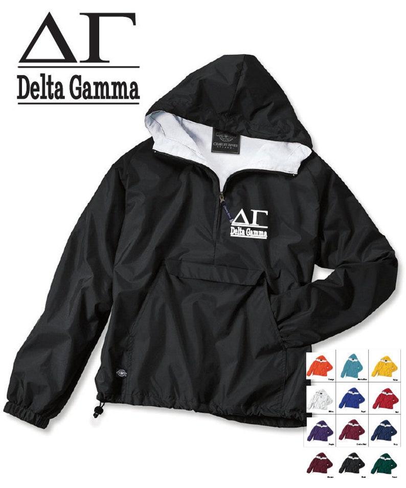 Delta Gamma  // DG // Sorority Charles River Rain Jacket // image 0