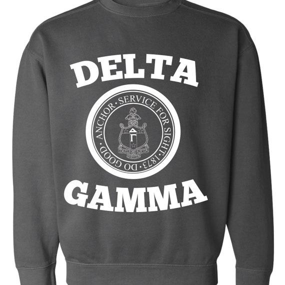 Sweatshirt  Choose Your Color Crest Delta Gamma  DG  Sorority Comfort Color