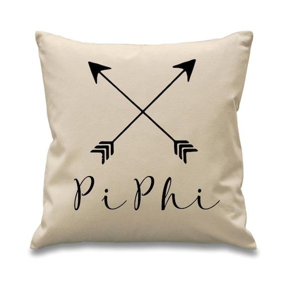 Pi Beta Phi Pi Phi Sorority Canvas Pillow 17x17 Etsy
