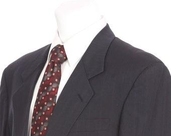 c0b91e1d0 Hugo Boss Charcoal Gray Pinstripe 40 Short Two Button Sport Coat