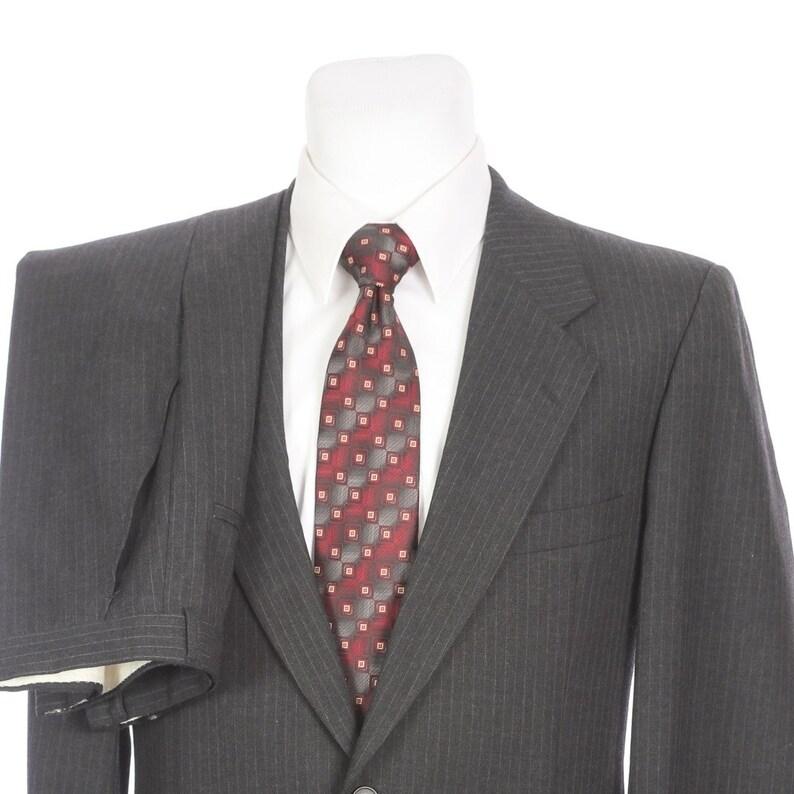 09418872132 Vintage Yves Saint Laurent YSL Two Button Gray Pinstripe Suit | Etsy