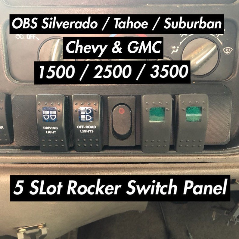 OBS Chevrolet GMC Rocker Switch Panel 5 Slots Carling ARB  f908dc353b73