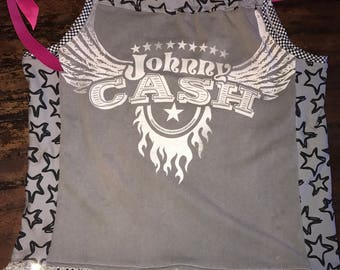 Girls size 2/4T Upcycled Pillowcase Dress or Tunic - I was a Johnny Cash T-shirt