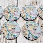 Custom Order -San Rafael map magnets