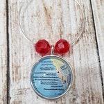 Custom Oxnard - Hollywood Beach Map Wine Charms