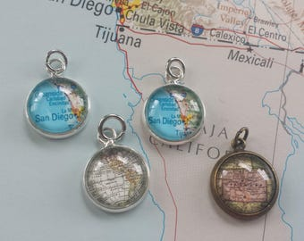Design Your Own - Map Charm (12mm)
