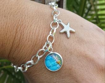 Design Your Own - Map Charm Bracelet or Anklet