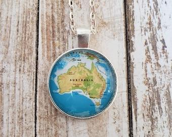 Australia Map Necklace