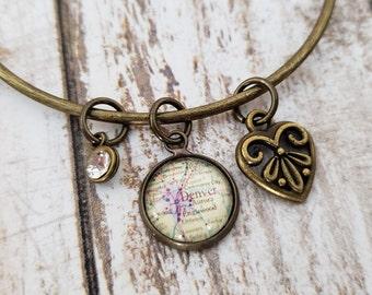 Design Your Own - Bangle Charm Bracelet - Silver or Bronze