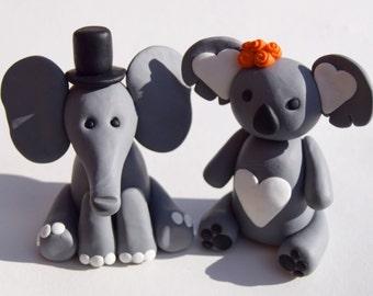 Elephant and Koala Wedding Cake Topper