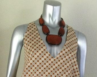Hand Made Boutique Unique Organic Summer Beach Dress %100 Cotton Crochet