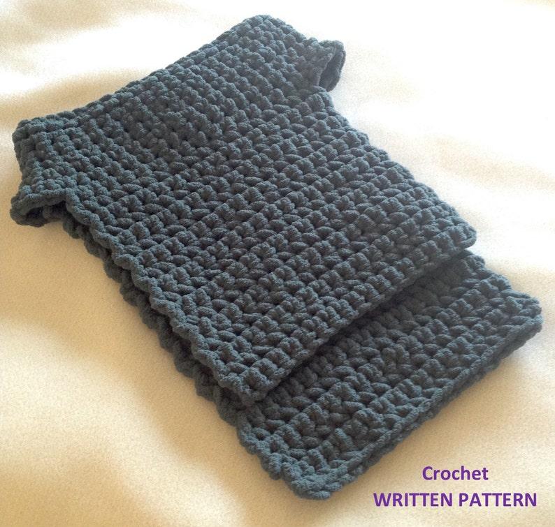 Crochet Neck Warmer Dickie Written Pattern Bernat Blanket Etsy