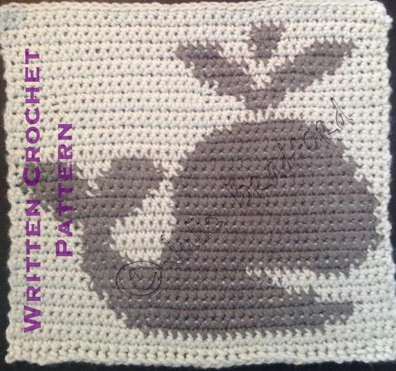 Written Whale Crochet Baby Blanket Pattern Whale Graph