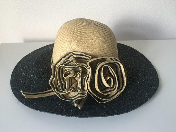 Vintage sun hat. Big floppy hat. Floppy sun hat. Vintage hat.  d4f7132da6a