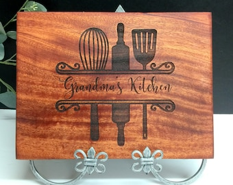 Cutting Board, Custom Cutting Board,Grandmas Kitchen, Christmas Gift, Gift for Grandmother, Gift for Her, Bride Gift, Womans Gift