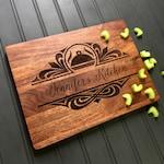 Cutting Board, Custom Cutting Board, Moms Kitchen, Christmas Gift, Gift for Mom, Engraved Board, Mahogany Cutting Board