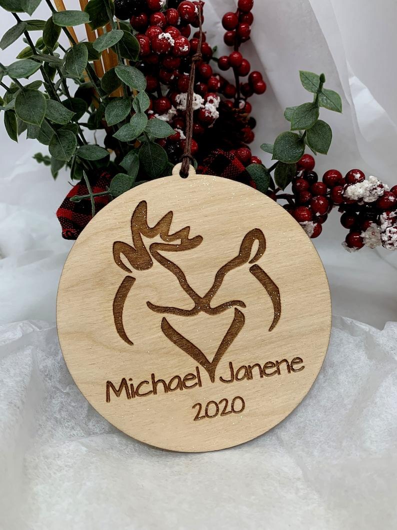 Deer Ornament Christmas Ornament Christmas Gift Custom image 0
