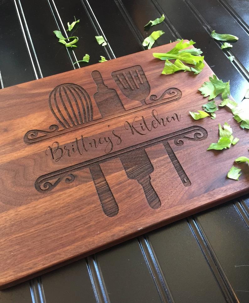 Cutting BoardCustom Cutting Board Moms Kitchen Friend Gift image 0