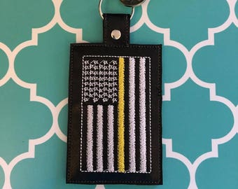 Thin Gold Line Dispatcher Police Fire Rescue ID Badge Holder