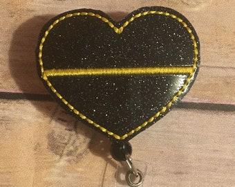 Thin Gold Line Badge Reel