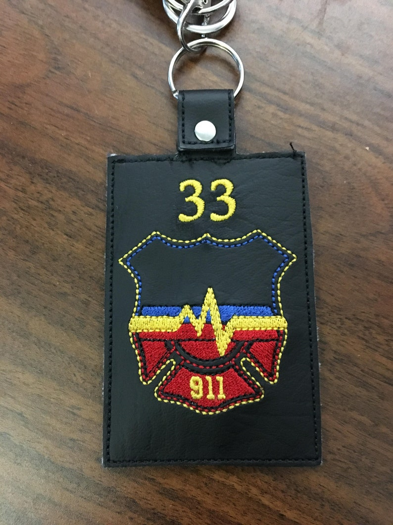 Personalized 911 Dispatcher ID Holder image 0