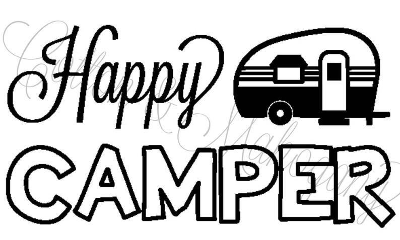 Happy Camper SVG image 0