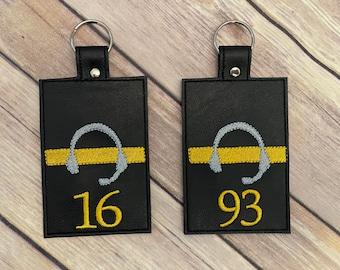 Thin Gold Line Headset Dispatcher ID Holder