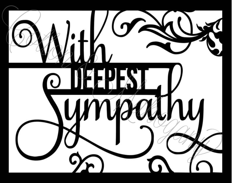 With Deepest Sympathy SVG image 0