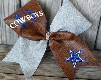 Dallas Cowboys Cheer 3 inch hair Bow