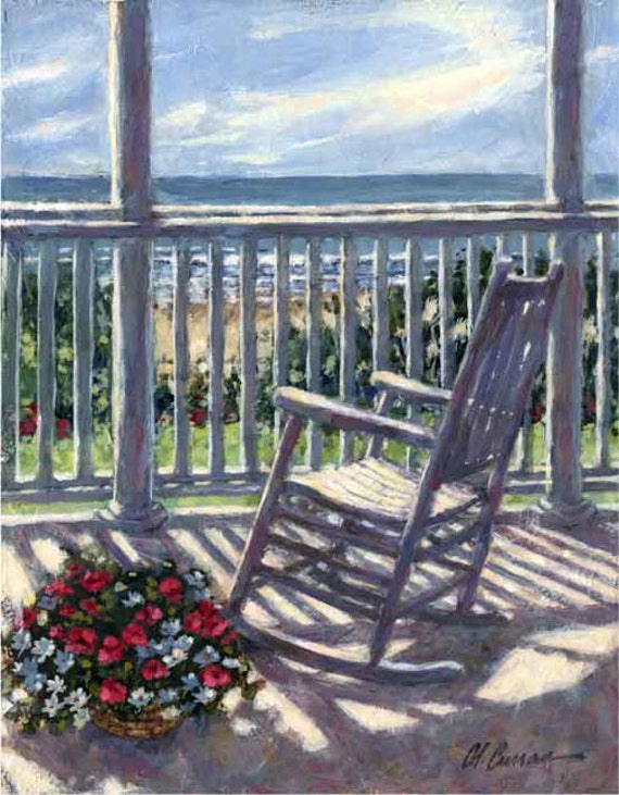 "Atlantic View by Carol Ann Curran - Fine Art Print - Double Matted to 11"" x 14"" (Image Size 8"" x 10"") - Isle Of Palms, SC"