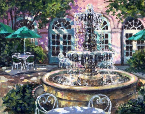 "Mills House by Carol Ann Curran - Fine Art Print - Single White Mat 11"" x 14"" (Image Size 8"" x 10"") - Charleston, South Carolina"