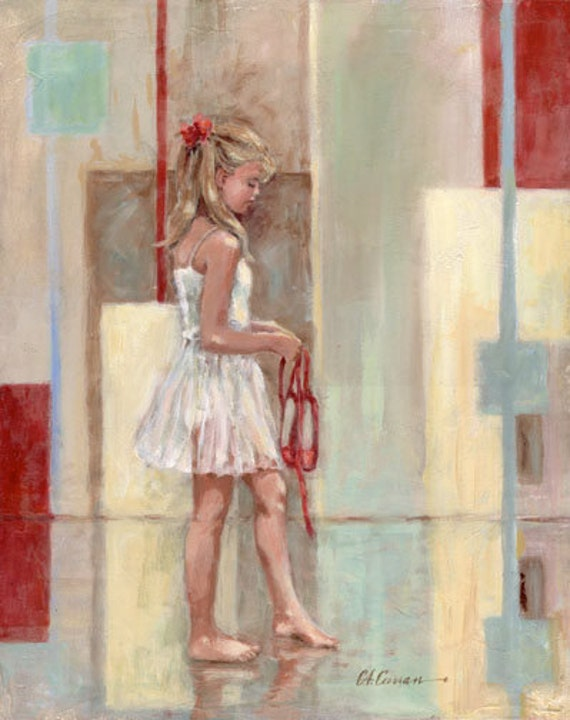 "Red Shoes by Carol Ann Curran - Fine Art Print - Single White Mat 11"" x 14"" (Image Size 8"" x 10"") - Ballet"