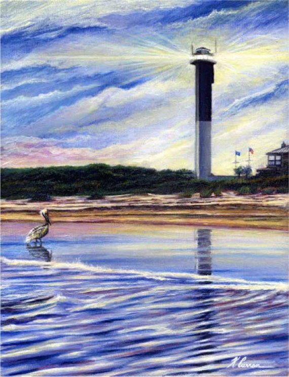 Sullivan's Island Lighthouse by Kevin Curran, Sullivan's Island, Charleston, South Carolina