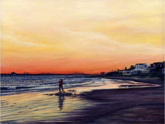 "One More Cast by Kevin Curran - Fine Art Print - Single White Mat 11"" x 14"" (Image Size 8"" x 10"") - Sullivan's Island - South Carolina"