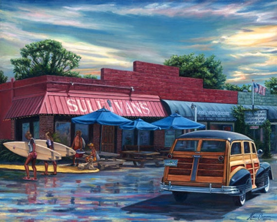 "Sullivan's Restaurant by Kevin Curran - Fine Art Print - Single White Mat 11"" x 14"" (Image Size 8"" x 10"") - Sullivan's Island SC, Woody"
