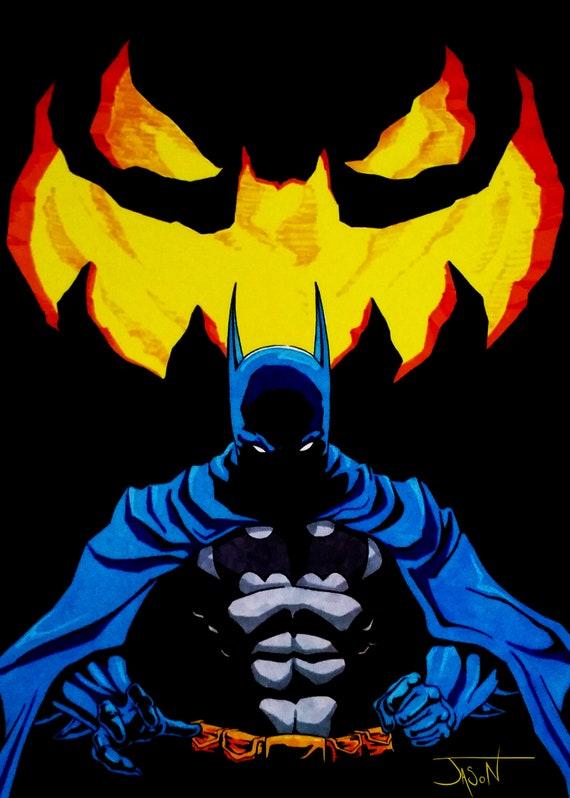 5x7 Batman: Long Halloween Print