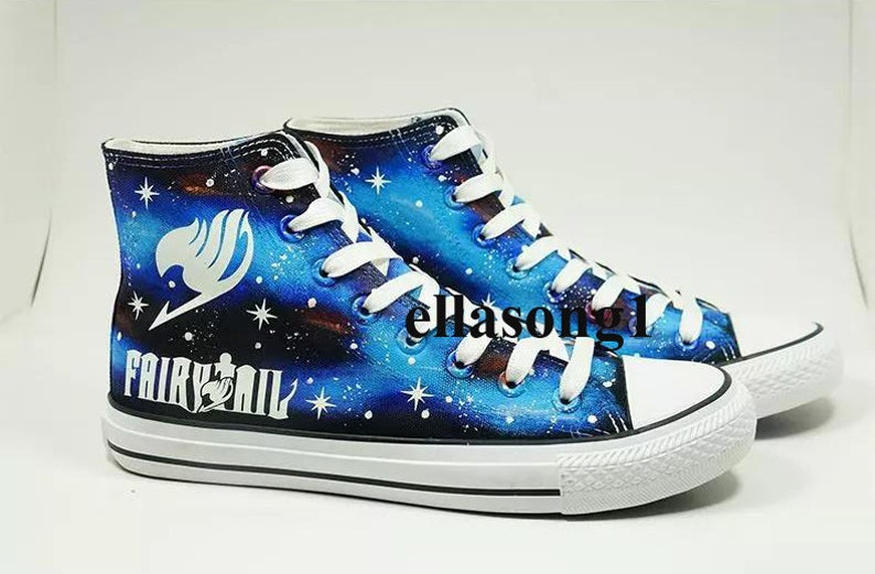 Mano dipinta galassia luminosa tela scarpe Casual scarpe P66sBHlH