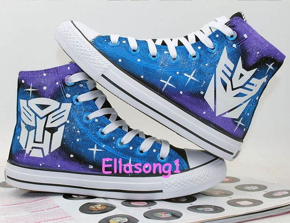 Lace Individuality Doodle Hand Drawn Sneakers,birthday gift Hand Painted Galaxy Luminous Casual Canvas Shoes,High Top custom flat shoes