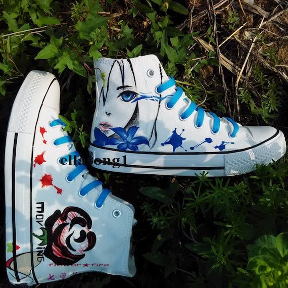 Hand Painted Galaxy Canvas Shoes,Hi top custom painted shoes,Casual Lace Individuality Doodle Hand Drawn sneakers,custom birthday gift