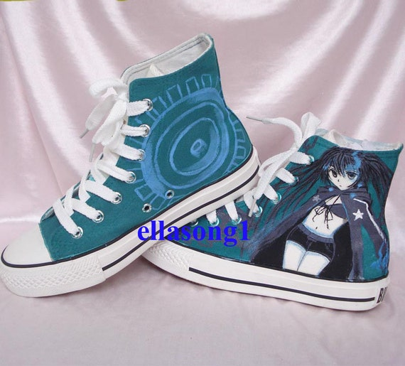 Hand Painted Anime Canvas Shoes, High top personality custom sport shoes,Casual Lace Individuality Doodle Hand Drawn sneakers