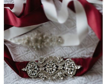 Burgundy Wedding Sash Belt, Pearl Crystal Sash, Burgundy Rhinestone sash/belt, Burgundy Bridal Belt
