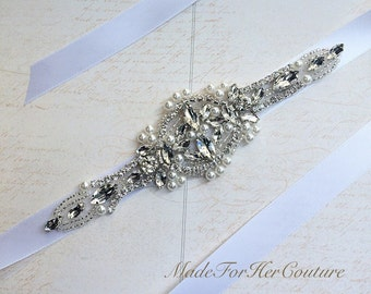 Wedding headband-wedding headpiece-bridal headband-headpiece-pearl bridal headpiece-crystal headpiece-wedding accessory-rhinestone headband