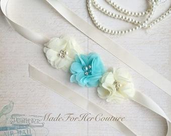 Wedding Dress Sash, wedding belt Sash, bridal sash/belt, Bridal Belt, ivory Bridal Sash, Bridesmaid Sash/Belt, Flower girl Sash/belt