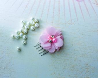 Wedding Head Piece, Bridesmaid Gifts, Bridesmaid Headpiece, Bridal Head piece, Pink hair Comb,Wedding Hair comb, Bridal Barrette,
