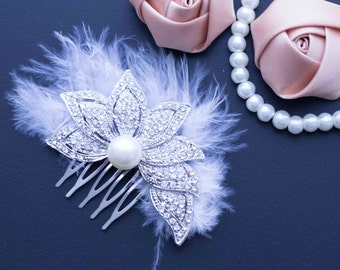 Wedding HeadPiece, Bridal HeadPiece, Bridal Hair Comb, Wedding Hair Comb, Rhinestone headpiece, Crystal Hair Comb, Vintage Hair Comb